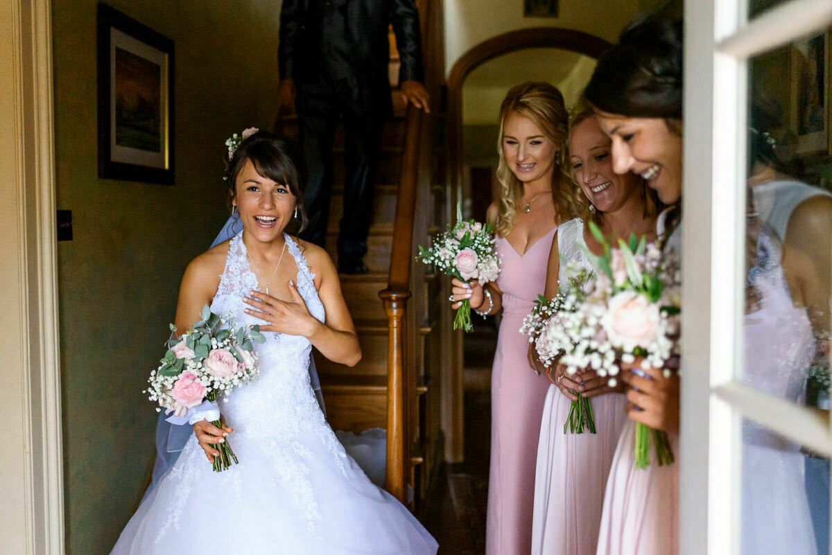 Bride and bridesmaids, Lyde Arundel