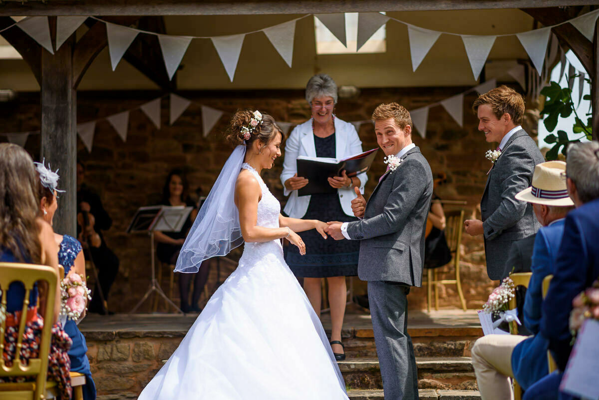 Outdoor wedding at lyde Arundel