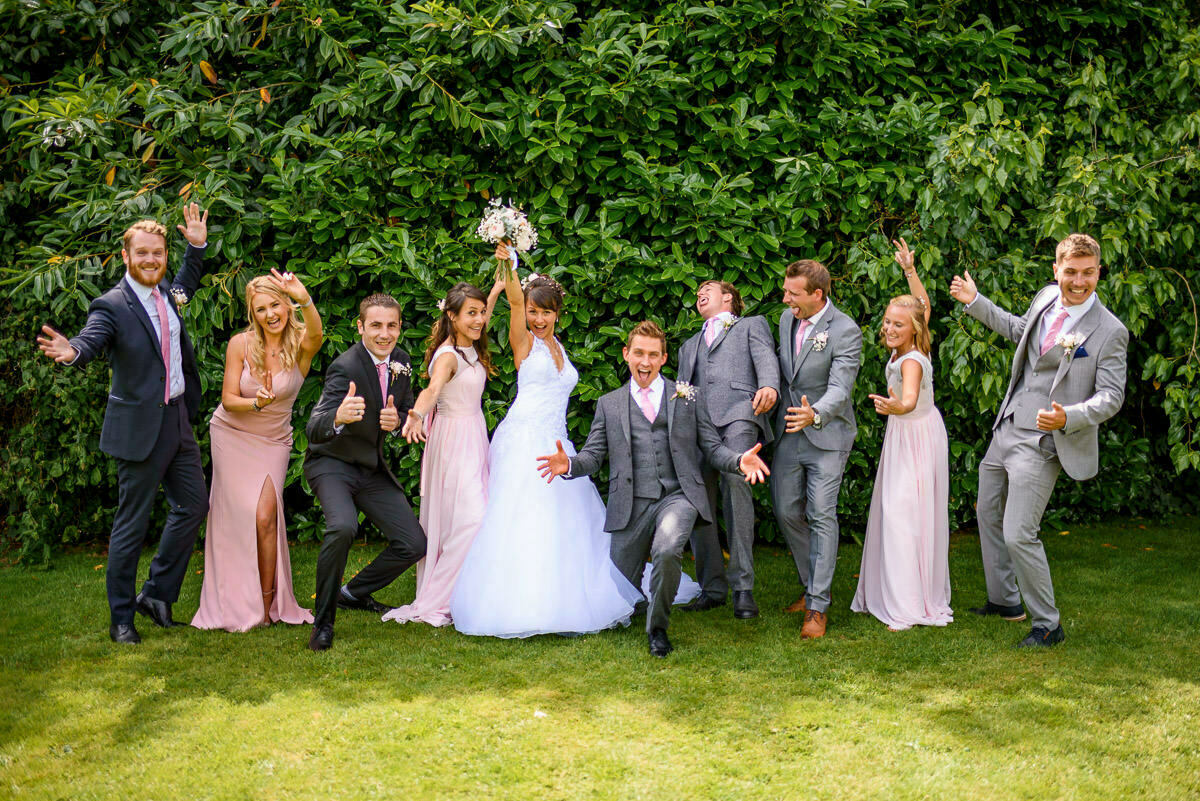 Bridal party, lyde Arundel wedding