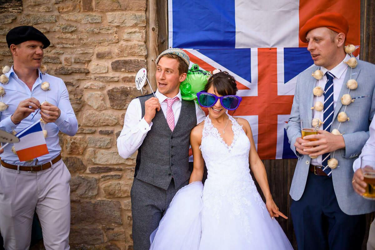 French bride and British groom