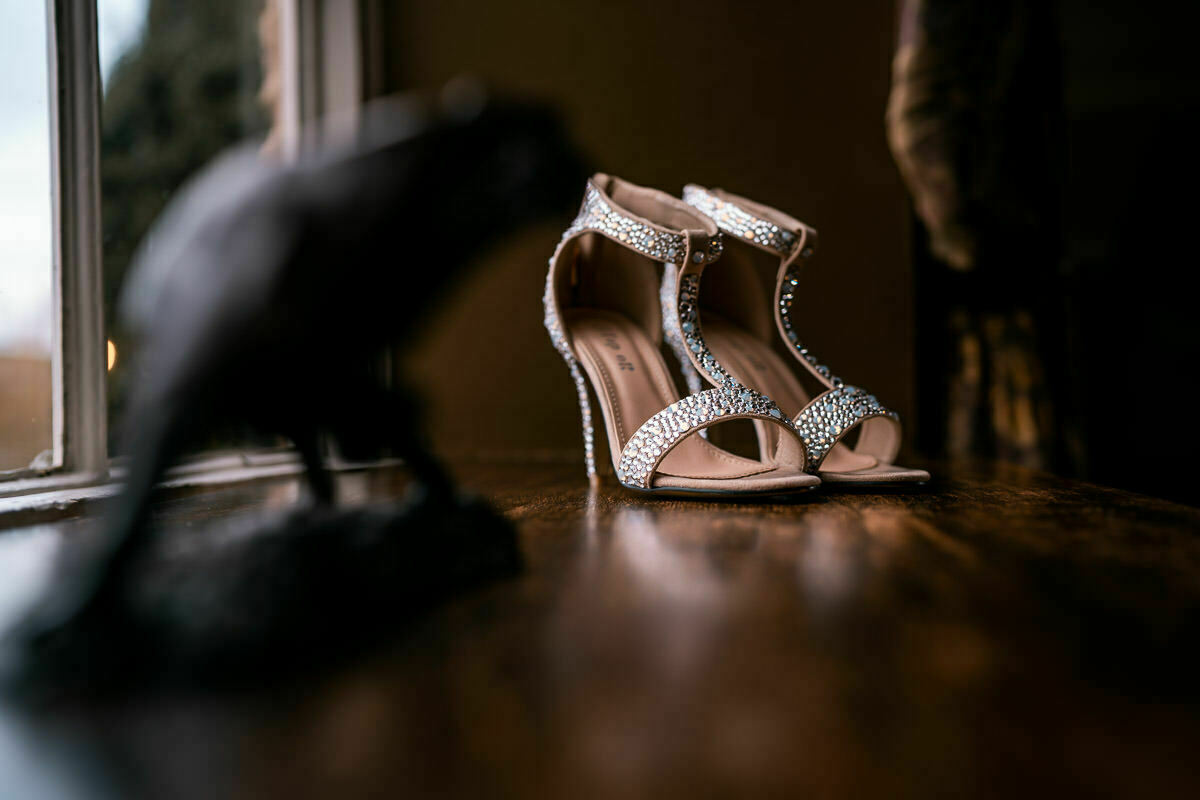 wedding shoes at dewsall court