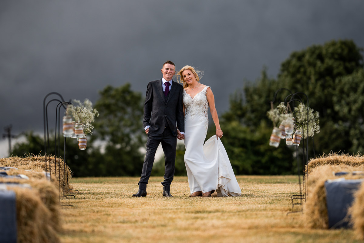 Stormy wedding