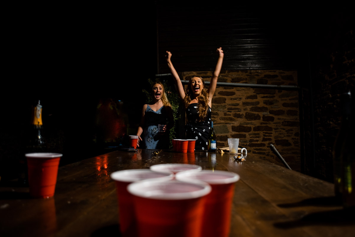 Wedding beer pong
