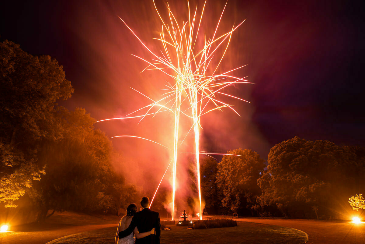 Fireworks at weddings in Herefordshire