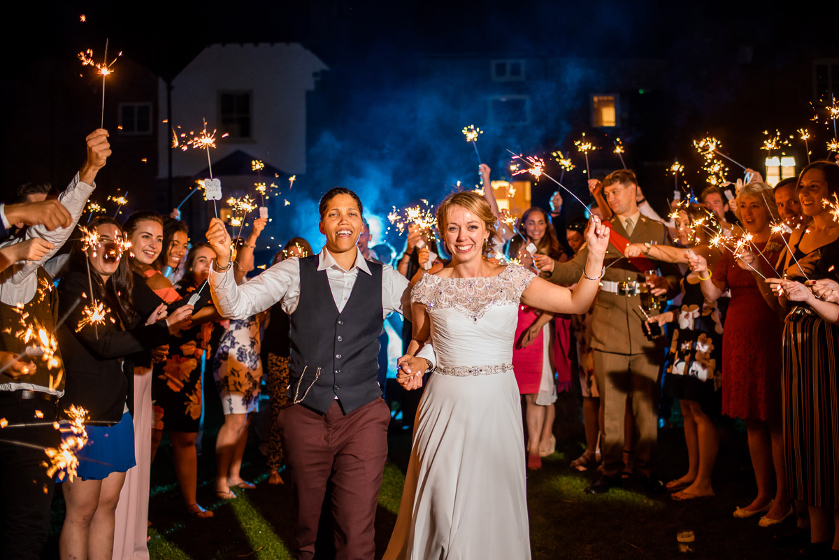 Lesbian weddings and sparklers