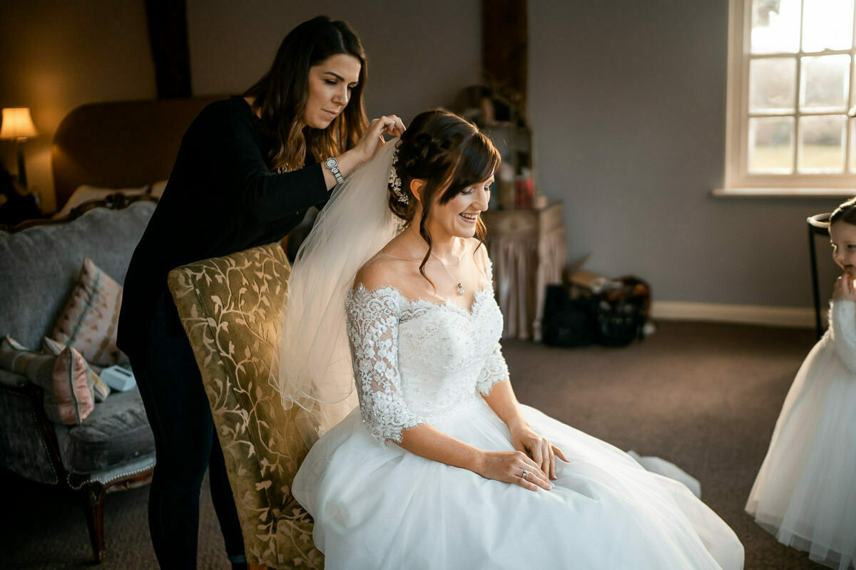 wedding hair at Brinsop Court