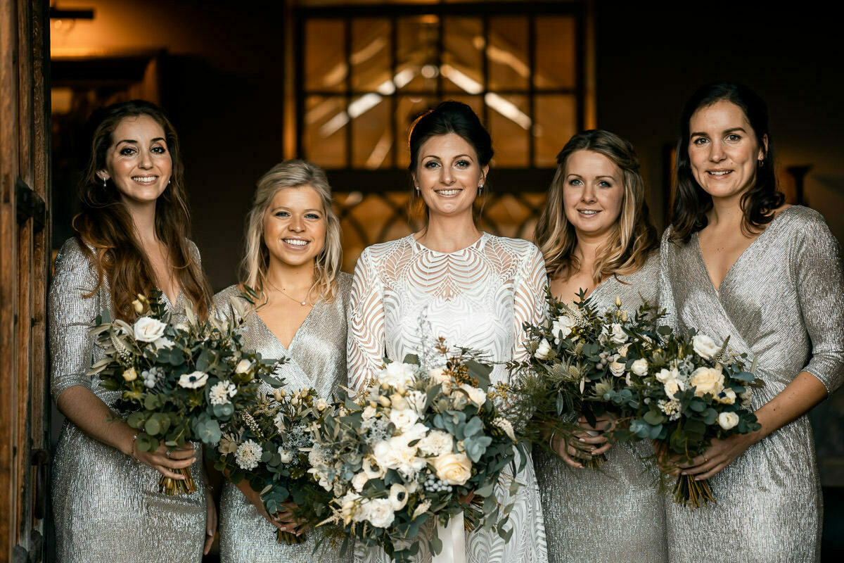 Bridal party at dewsall court