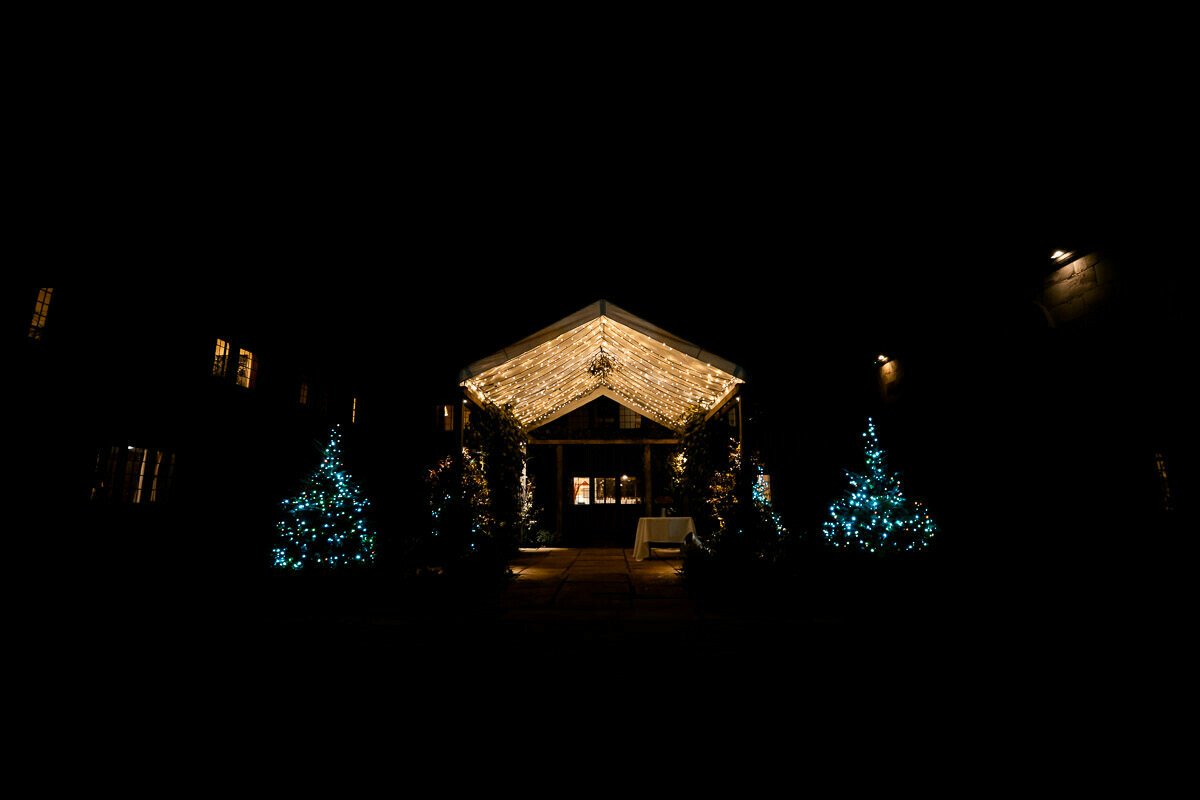 Christmas wedding at Brinsop Court Herefordshire