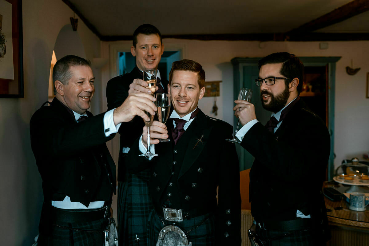 Scottish wedding at Brinsop Court