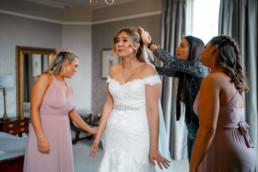 Crying bride at Lemore Manor