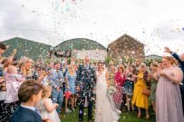 Super wedding confetti shot
