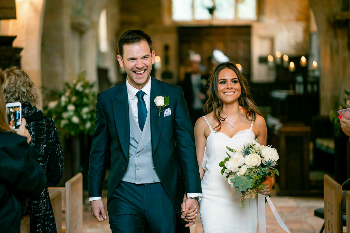 Cotswolds wedding, bride and groom