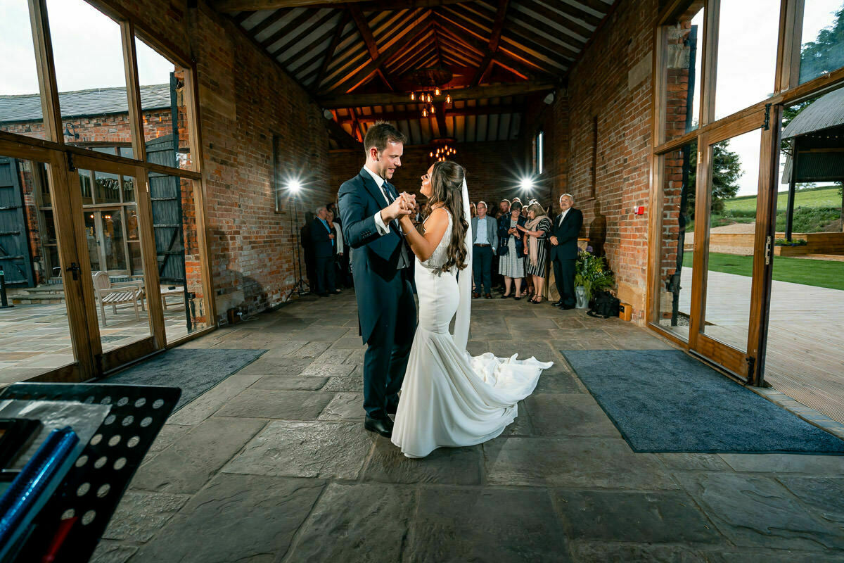 wedding dance at Mickleton hills farm