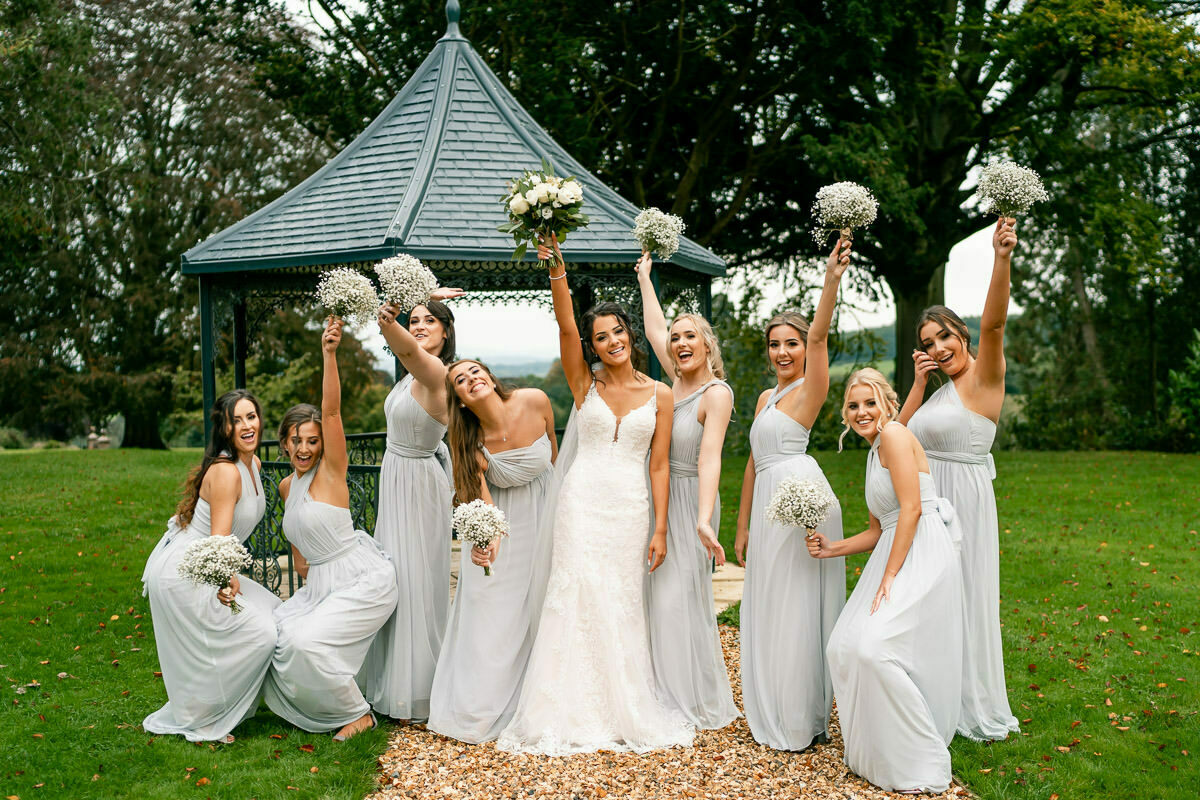 Bridesmaids at bredenbury court barns
