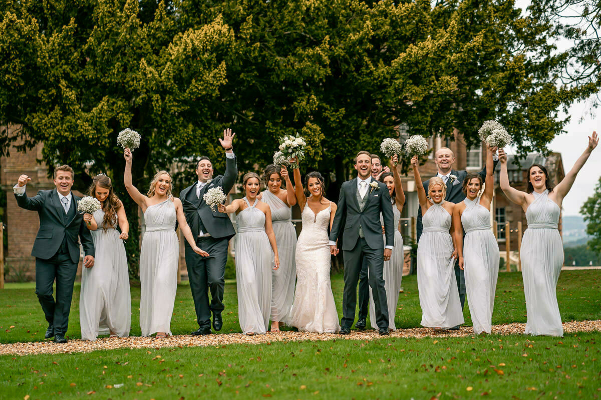 Bridal party, bredenbury court barns wedding