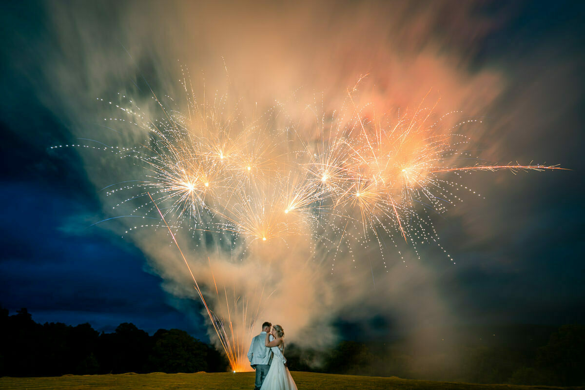 Whitney court wedding fireworks