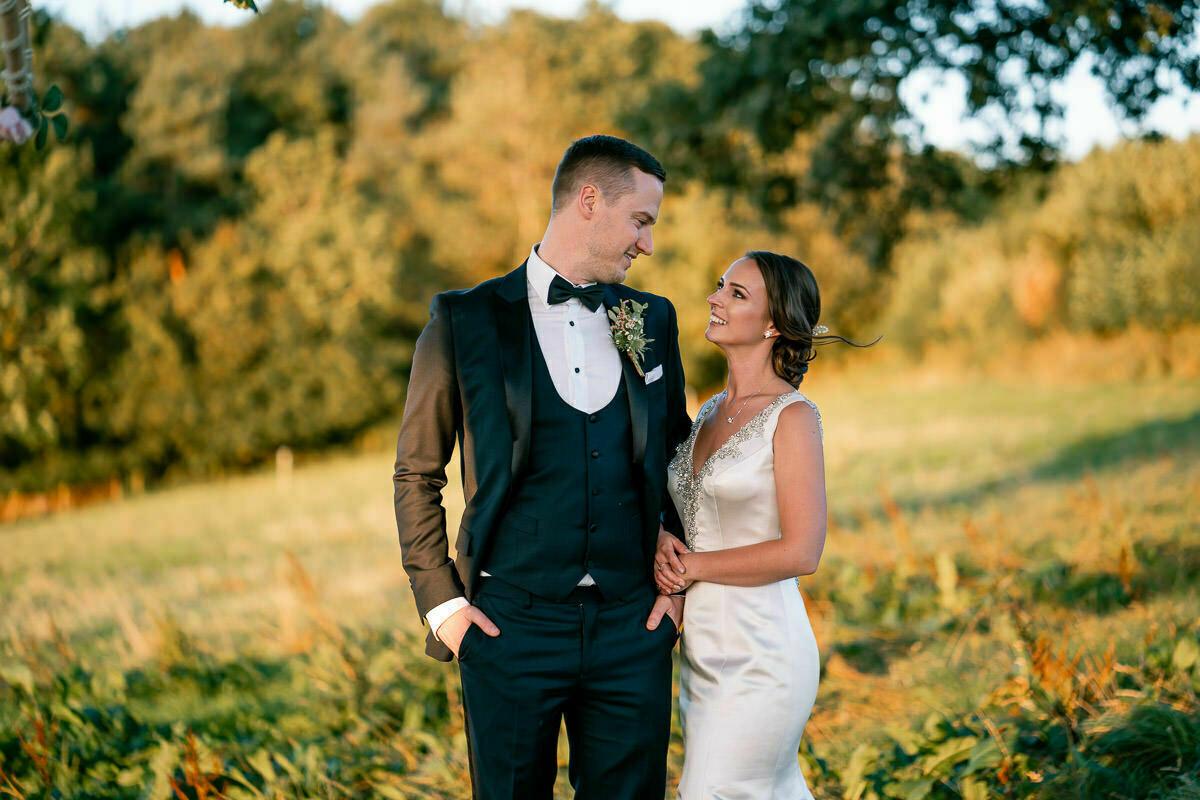 Bride and groom, wedding suit, wedding dress