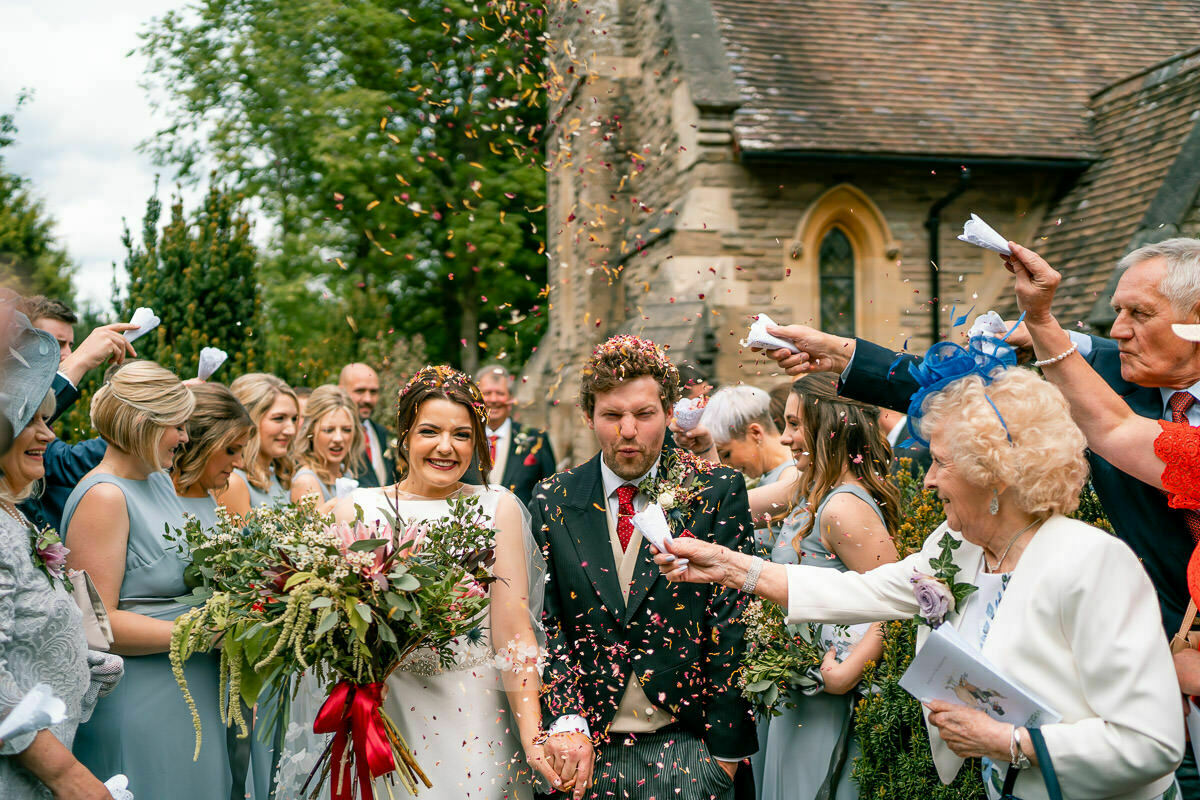 confetti shower Worcestershire weddings