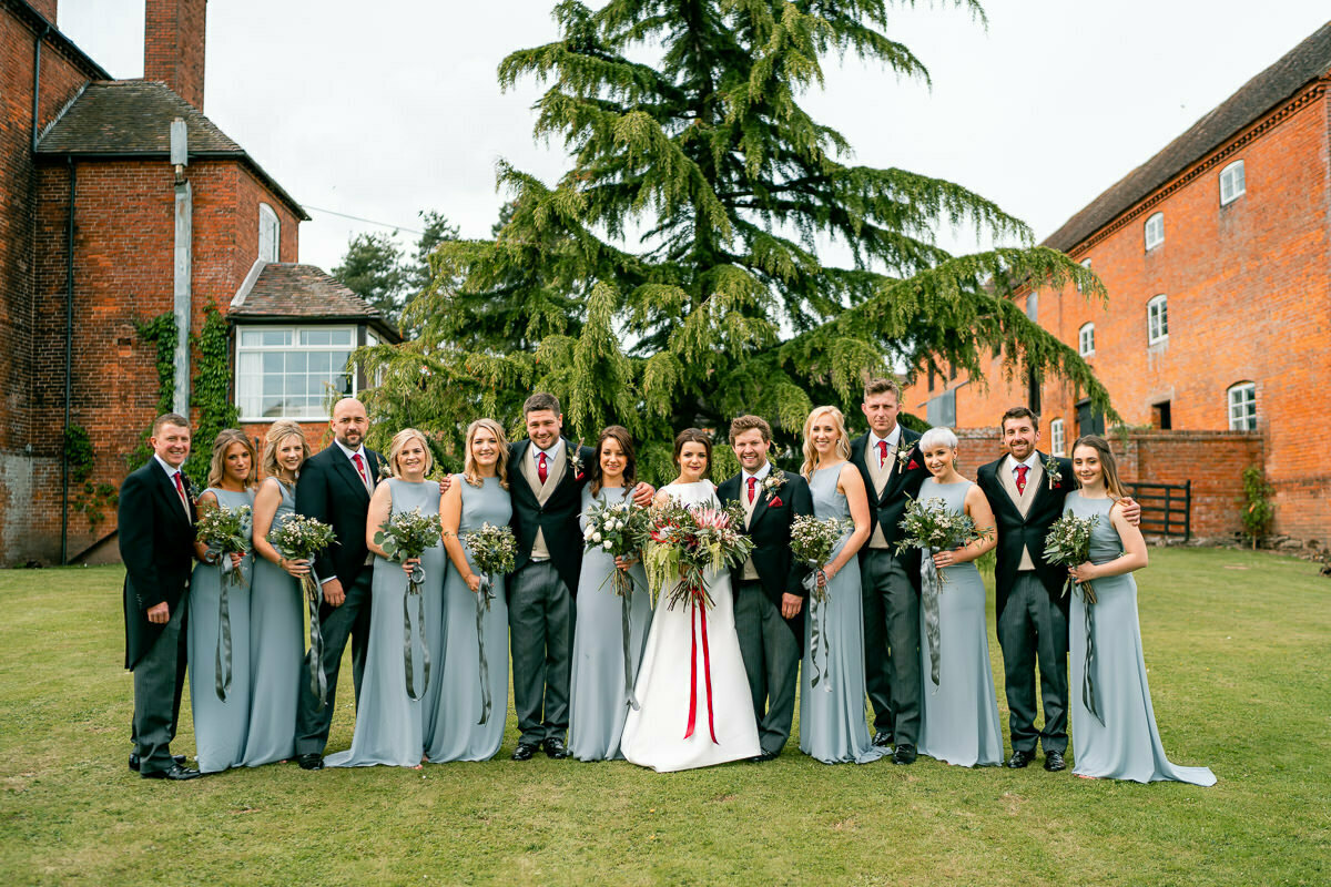 Bridal party, Worcestershire wedding photographer
