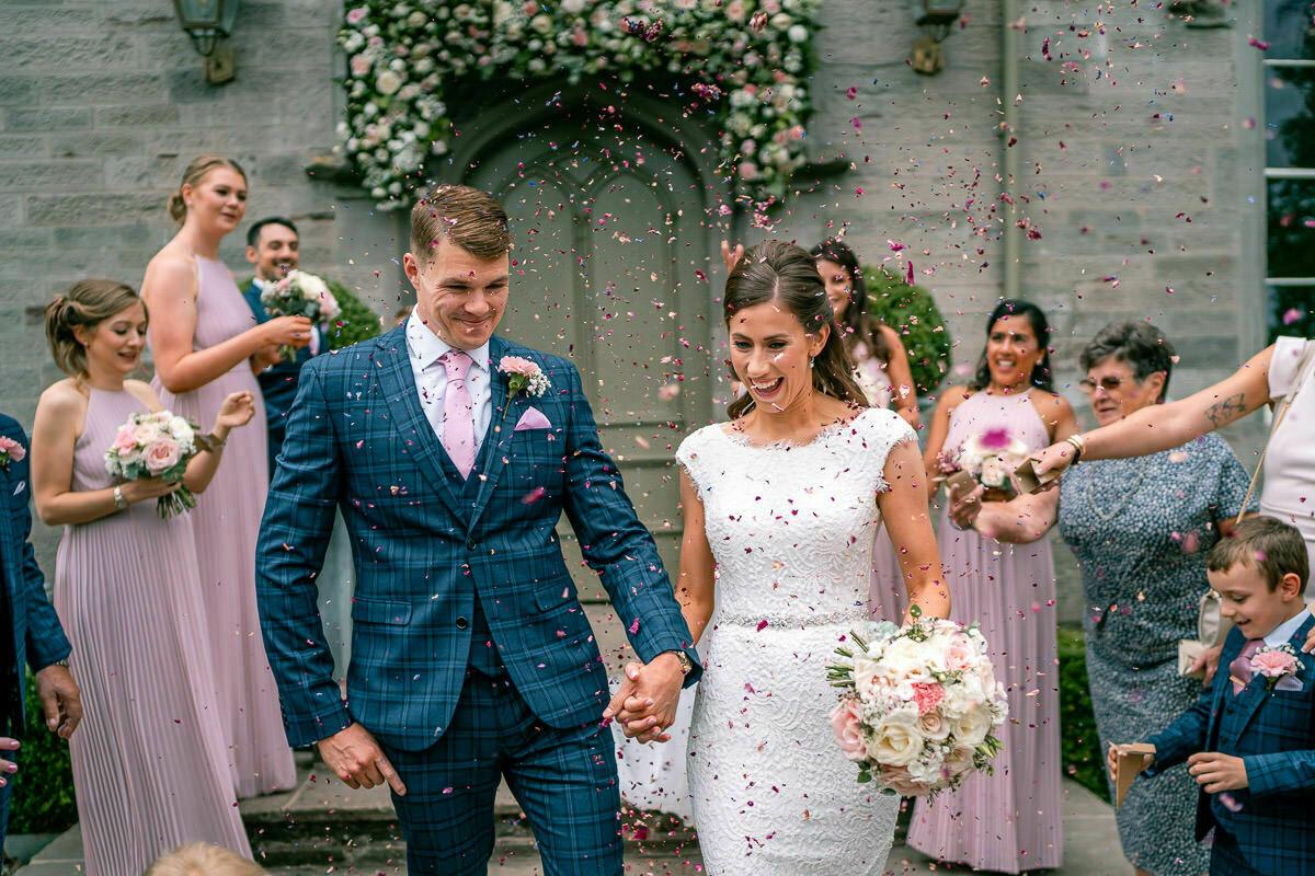 Wedding confetti at Lemore Manor