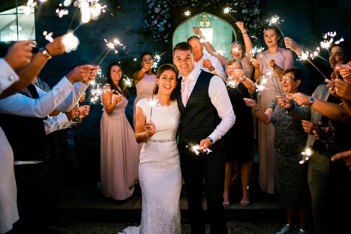 Wedding sparklers Lemore Manor