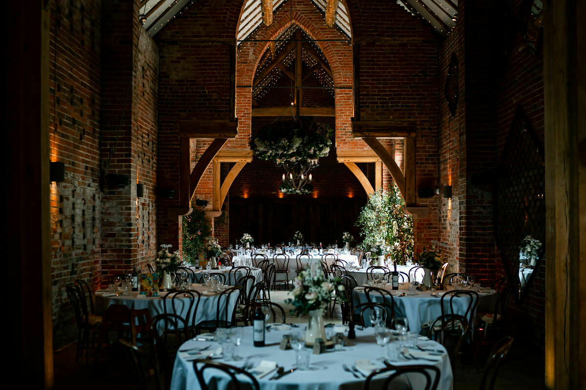 wedding breakfast at shustoke barn