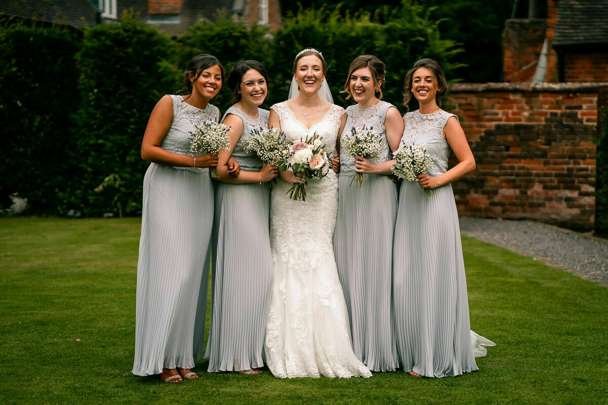 bride and bridesmaids wedding